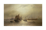A Busy Morning on the River Mersey, 1891 Giclee Print by Francis Krause