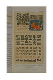 T.1605 Fragments of a Hieroglyphical Manuscript at Dresden, from Vol II of 'Researches Concerning… Giclee Print by Friedrich Alexander, Baron Von Humboldt