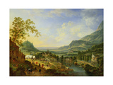 A Village Fete in the Rhine Valley Giclee Print by Jan The Elder Griffier