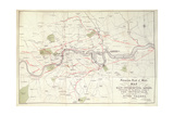 Metropolitan Board of Works Map of Bazalgette's Plan for the Lines of Main Intercepting Sewers,… Giclee Print