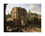 The Arch of Constantine, 1645 Giclee Print by Herman Van Swanevelt