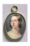 Portrait Miniature of Queen Victoria, 1839 Giclee Print by William Essex