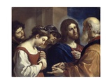 The Woman Taken in Adultery, C.1621 Giclee Print by  Guercino (Giovanni Francesco Barbieri)