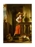 A Woman Selling Milk Giclee Print by Nicolaes Maes