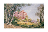 Palazzo and Garden Giclee Print by Jacques Guiaud