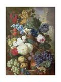 Flowers and Fruit Giclee Print by Jan van Os