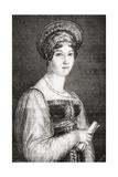 Mademoiselle Mars, Engraved by La Plante, from 'Histoire De La Revolution Francaise' by Louis… Giclee Print by H. de la Charlerie