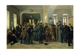 The Collapse of a Bank, 1881 Giclee Print by Vladimir Egorovic Makovsky