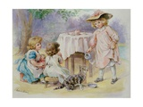 The Tea Party, 1876 Giclee Print by Agnes Nicholl