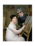 The Artist and Her Mother Giclee Print by Rolinda Sharples