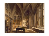 Interior of the Chapter House, Illustration from the 'History of Oxford', Engraved by J. Bluck… Giclee Print by Frederick Mackenzie