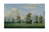 The Battle of Dogger Bank, 1781 Giclee Print by Thomas Luny