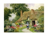 Taking Out the Washing Giclee Print by Arthur Claude Strachan