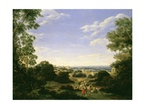 Brazilian Landscape with Native Figures, 1666 Giclee Print by Frans Jansz Post