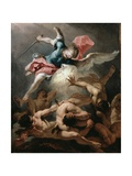 The Fall of the Rebel Angels, C.1720 Giclée-tryk af Sebastiano Ricci