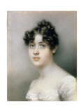 Portrait Miniature of Girl in a White Dress, C.1815 Giclee Print by Mary Ann Knight
