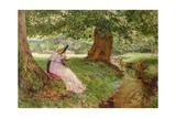 A Side Glance, 1892 Giclee Print by Edward Frederick Brewtnall