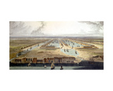 Elevated View of the New Dock and Warehouses, 1802 Giclee Print by Thomas & William Daniell