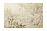 The Amorous Gardener Giclee Print by Thomas Rowlandson
