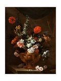 Flowers in a Sculptured Vase Giclee Print by Jean-Baptiste Monnoyer