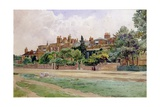 Wren's and Faraday's Houses at Hampton Court Giclee Print by E.H. Fitchew