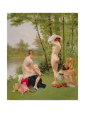 The Bathers Giclee Print by Jules Scalbert