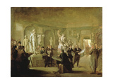 The Sculpture Gallery of the Felix Meritis Society Giclee Print by Adriaen de Lelie