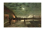 In Peril (The Harbour Flare) 1879 Giclee Print by John Atkinson Grimshaw