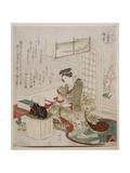 Black Pheasant from the Series 'A Contest of Fowls: Three Designs', 1825 Giclee Print by Ryuryukyo Shinsai