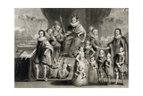His Majesty James I and His Royal Progeny Together with the Family of the King of Bohemia,… Giclee Print by Simon de Passe