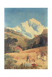 View of the Jungfrau-Horn, 1809 Giclee Print by John Sell Cotman
