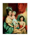 A Group Portrait of a Lady and Her Two Children Giclee Print by Benjamin West