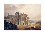 Melrose Abbey, Roxburghshire Giclee Print by Thomas Miles Richardson
