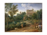 Classical Landscape with Figures, C.1672-5 Giclee Print by Gaspard Poussin Dughet