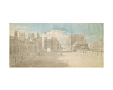 Whitehall, Holbein Gate and Banqueting House on the Right Giclee Print by Thomas Sandby