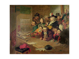 Awaiting News of the Arrest of Robespierre (1758-94) in 1794, 1866 Giclee Print by William Henry Fisk