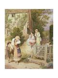Wandering Minstrels Giclee Print by Myles Birket Foster