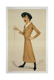 'A Symphony', Cartoon from of Sir James Abbott Mcneill Whistler (1834-1903) from 'Vanity Fair',… Giclee Print by Leslie Mathew Ward