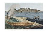 T.1549 Navigation in Van Dieman's Land, View on the Eastern Coast of Schouten Island, Plate 14… Giclee Print by Charles Alexandre Lesueur
