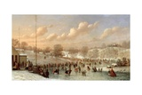 Skating Scene, Central Park, 1865 Giclee Print by Johann Mongels Culverhouse