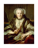 Madame Danze Sewing Giclee Print by Nikolai Tokareff