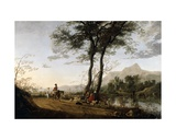 A Road Near a River, 1650s Giclee Print by Aelbert Cuyp