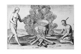 Cooking in a Pot, Engraving by Gysbert Van Veen (1562-1628) Giclee Print by John White