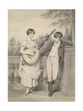 John and Charlotte, 1801 Giclee Print by Henry Edridge