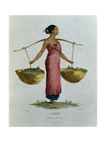 T.1552 Canda, a Young Malaysian Girl from Timor, Plate 26 from 'Voyage of Discovery to Australian… Giclee Print by N. Petit