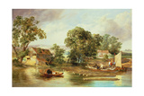 Taverham Paper Mill, Norfolk, 1839 Giclee Print by Alfred Priest