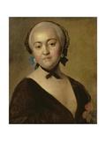 Portrait of the Empress Elizabeth Petrovna (1709-62) 1760 Giclée-tryk af Pietro Antonio Rotari