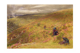 On the South Downs, 1879 Giclee Print by Albert Goodwin