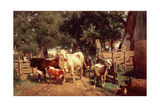 A Farmyard Scene Giclee Print by Eduard Weichberger