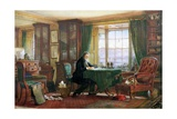 John Ruskin in His Study at Brantwood, Cumbria, 1882 Giclee Print by William Gersham Collingwood